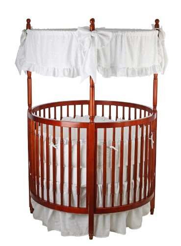 Round Baby Crib (Dream On Me Sophia Posh Circular Crib, Cherry)