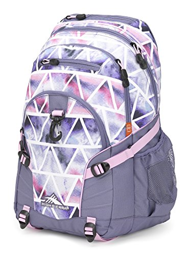High Sierra Loop Backpack, Great for High School, College Backpack, School Bag, Tablet Sleeve, Perfect for Travel, Men and Women's backpack, Dreamscape/Purple Smoke/Iced Lilac