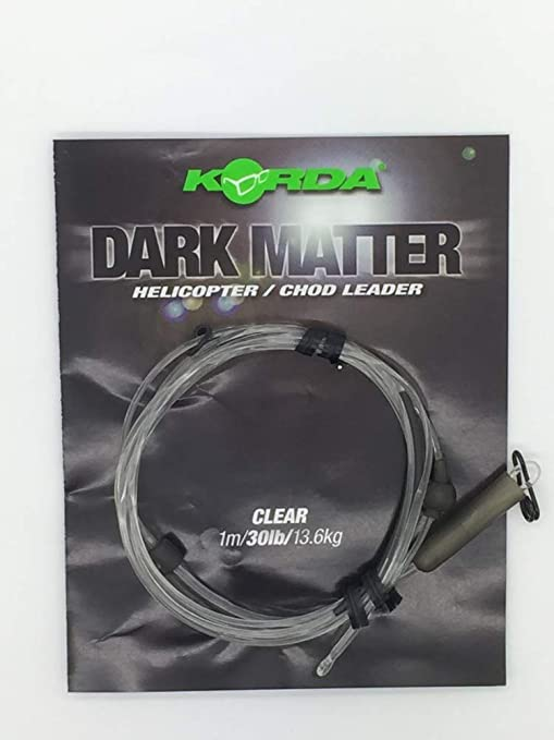 KORDA DARK MATTER HELICOPTER LEADER IN WEED COLOUR FOR CARP FISHING