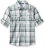 Columbia Little Boy's Super Bahama Long Sleeve Shirt, X-Small, Thyme Green Plaid