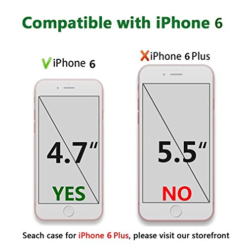 Case iPhone 6 Funda iPhone 6S Carcasa TPU Impresión Suave Ultra Slim / Resistente a los Arañazos Flexible Bumper Case Cover [Ultra-delgado] [Shock-Absorción] Protectora Contraportada Caja del Teléfono una flor