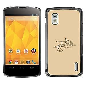 EJOY---Cubierta de la caja de protección la piel dura para el ** LG Nexus 4 E960 ** --Lucha Reglas del Club