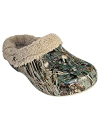 Men's Mossy Oak Fleece Dawgs Fluffy Clogs Slippers