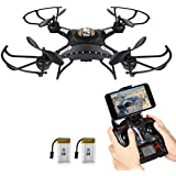 Drone with HD Camera, Potensic® F183WH Altitude Hold 4CH Six-Axis RC Quadcopter Drone 2MP Camera Helicopter FPV 2.4GHZ Phone Quadcopter with WiFi, 360 Degree Rollover