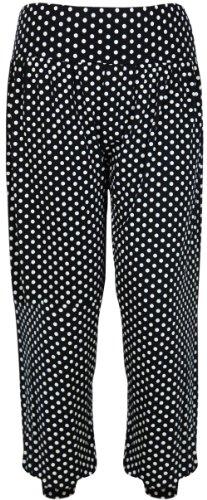 PurpleHanger Women's Printed Harem Pants Plus Size Spot Print 12-14
