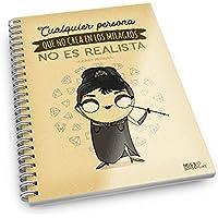 Missborderlike - Cuaderno A5 - Cualquier persona que no crea en los milagros no es realista -Audrey Hepburn-
