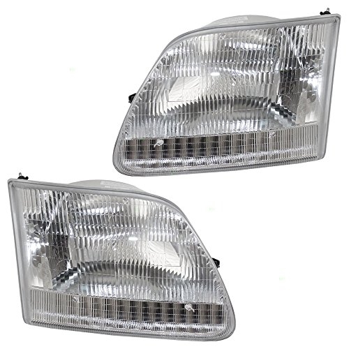 Headlight Lens (Driver and Passenger Headlights Headlamps Replacement for Ford Pickup Truck SUV 3L3Z 13008 DA 3L3Z 13008)