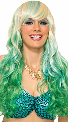 Forum Novelties Wig-Mermaid Waves, Green, Standard