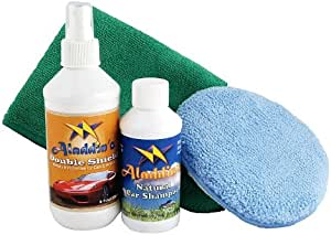Tantacoat Liquid Glass Car Paint Protection 8oz, Natural Car Shampoo + Detailing Microfiber Towel + Applicator