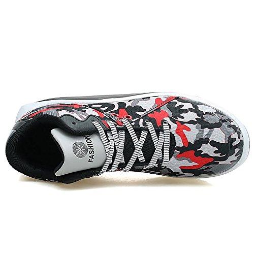 da Scarpe Scarpe Lace per da Il Piatto red up Relax Sneaker Black Canvas Tacco comode Uomo Cricket 71nFqO