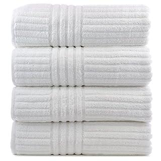 Luxury Hotel & Spa Towel Turkish Cotton Stripe (White, Bath Towel - Set of 4) (B00IP3DNE4)   Amazon price tracker / tracking, Amazon price history charts, Amazon price watches, Amazon price drop alerts