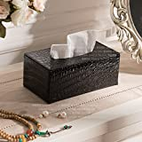DHWJ Creativeautomotivehousehold tissue boxPUblack tissue box