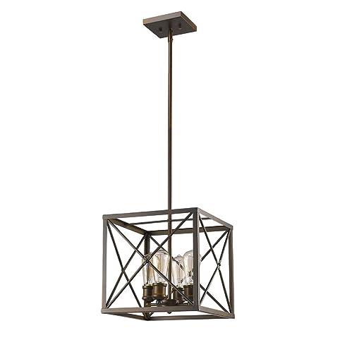 acclaim lighting in21121orb brooklyn indoor 4light pendant oil rubbed bronze