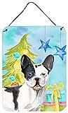 Caroline's Treasures Black White French Bulldog Christmas Metal Print, 16'' x 12'', Multicolor
