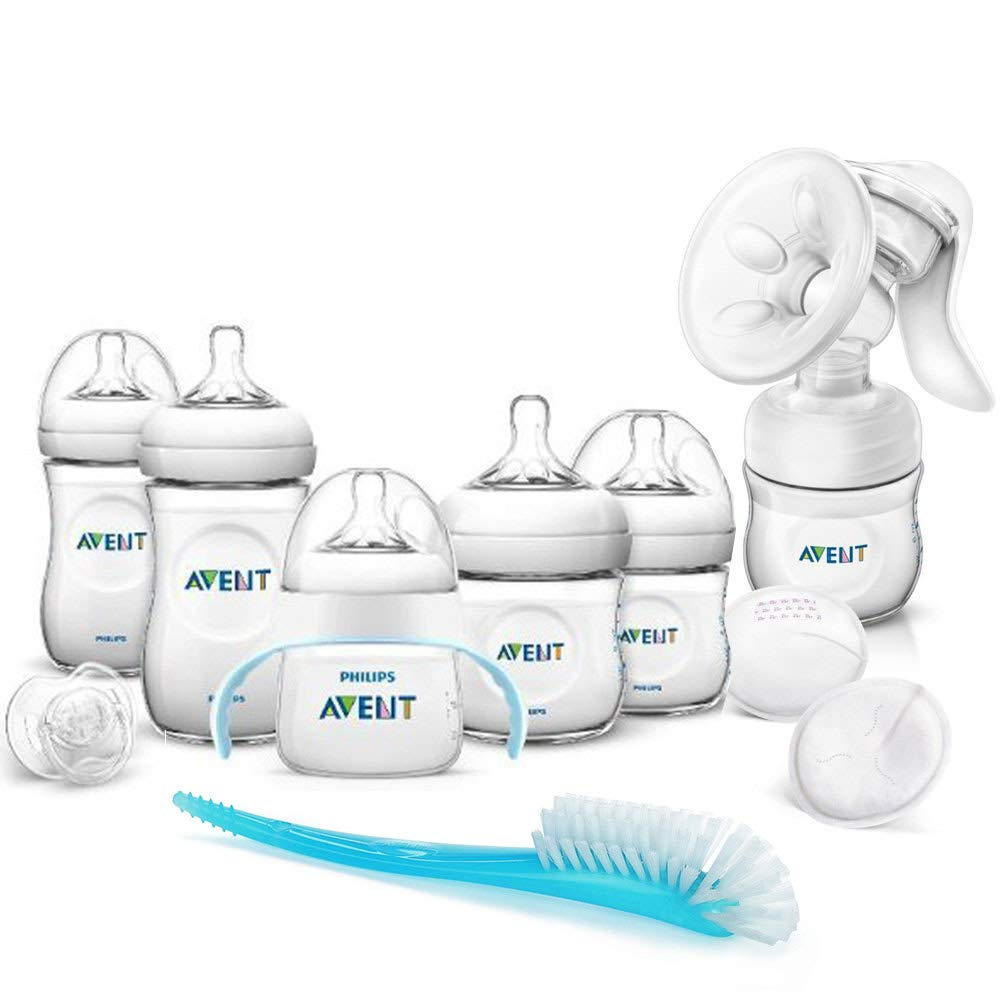 Flasche PHILIPS AVENT Naturnah Komfort Handmilchpumpe SCF330//20 Natural inkl