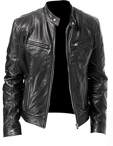 Men's Stylish Lambskin Genuine Leather Jacket