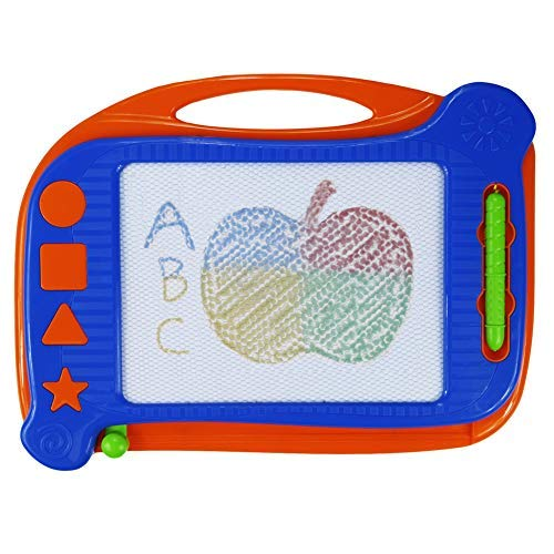 Kids Magna Doodle Board Toy - Erasable Magnetic Drawing Board Colorful Sketch Pad for Boy Girl Learning/Writing On the Go,Great Gift for 3 Year Old and Up (Stamps Not Included) from Svance