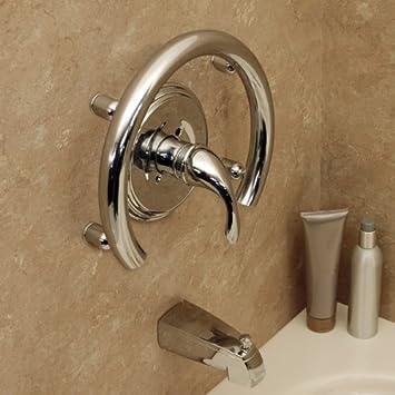 Amazon.com: Invisia Bath Accent Ring-Support Rail- Chrome: Health ...