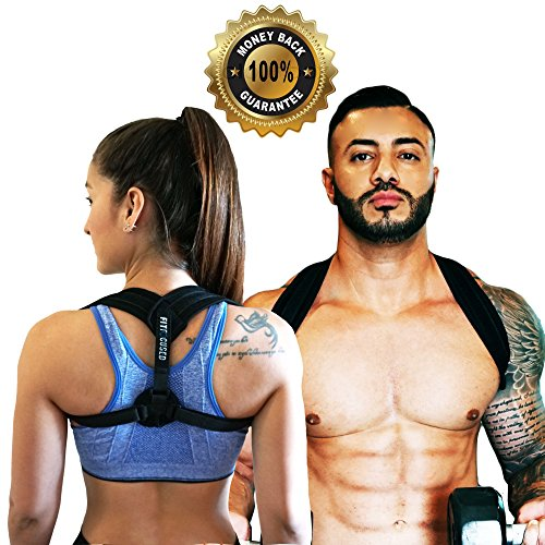FitFocused Back Posture Corrector for Women Men Kids - Effective and Comfortable Posture Back Brace for Slouching & Hunching - Clavicle Support Brace - Back Pain Relief - Free EBOOK W/Daily Exercises by FitFocused