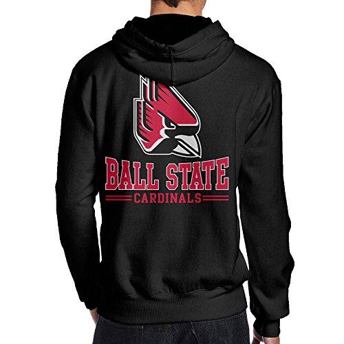 JKUI9 Men's Ball State University Sweater On The Back Size L (Iowa State Mascot Costume)