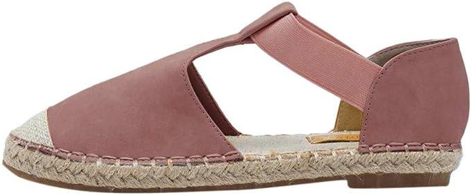 Sandales Femme LEvifun Espadrilles Sandale Plate Femme Été