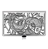 Koi carp ornate Asian fish & water splash japanese Custom Images Business Card Holder Name Case