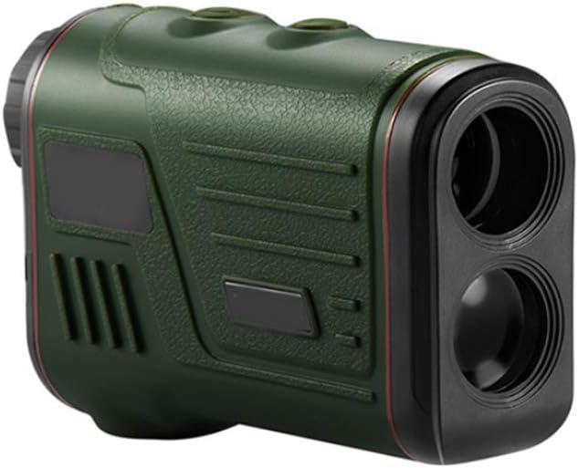 Laser Range Finder Caza Golf, Medida de la Lente Ajustable Medición de Distancia del telémetro Telescopio Digital de Tiro con Arco Reloj de Disparo Binoculares, Negro
