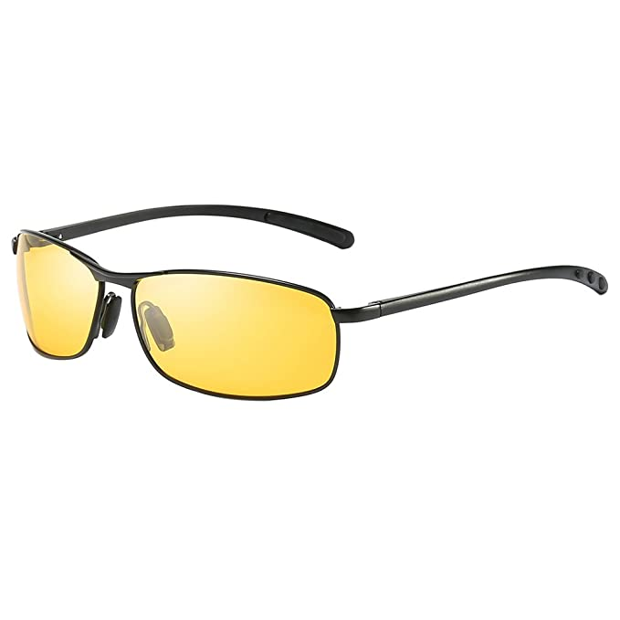 8a1d3b283d3 Yellow Tinted Polarized Sunglasses Low Light Overcast Fishing Driving  Increase Contrast UV400 Protection (ZH512BY)