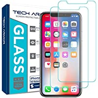 2-Pack Tech Armor Apple iPhone X Glass Screen Protector