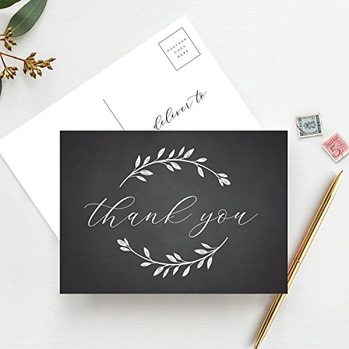 Thank You Postcards, Thank You Cards Wedding, Bridal Shower, Baby Shower or Special Event! Pack of 50 — from Bliss Paper ()