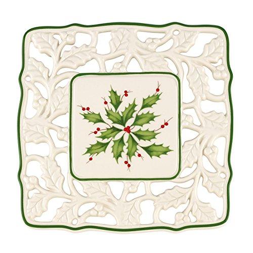 - Lenox Holiday Pierced Trivet,Ivory