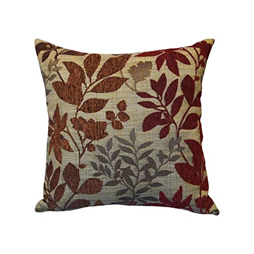 Arlee Bristol Chenille Jacquard Leaf Toss Pillow, (Arlee Pillow)