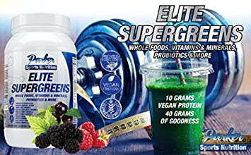 Elite Supergreens is Premium Organic Green Superfood with Very High End Ingredients in All Categories. Very Large 40 Gram Serving Size Provides 5 to 9 Servings Wholesome Fruits Vegetables Nutrition