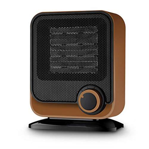 LIULINAN Space Heater Watt Ceramic Portable Heater, Adjustable Thermostat Safety Heater Flip Overheat Protection Fast Heating Indoor Use,Brown Ceramic Heaters LIULINAN