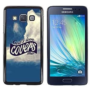 Paccase / SLIM PC / Aliminium Casa Carcasa Funda Case Cover para - BIBLE God'S Love Covers Me - Samsung Galaxy A3 SM-A300