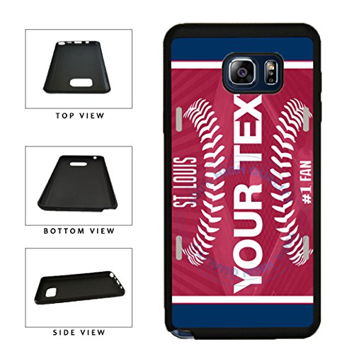 - BleuReign(TM) Personalized Custom Name Baseball St. LouisTPU RUBBER SILICONE Phone Case Back Cover For Samsung Galaxy Note 8