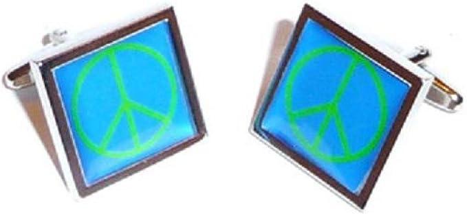 Para hombre Funky Tema de moda azul y verde Ban el bomba