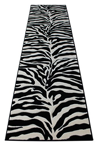 Black Sculpture Design - Sculpture Modern Runner Area Rug Design 245 Black (32 Inch X 10 Feet) Runner