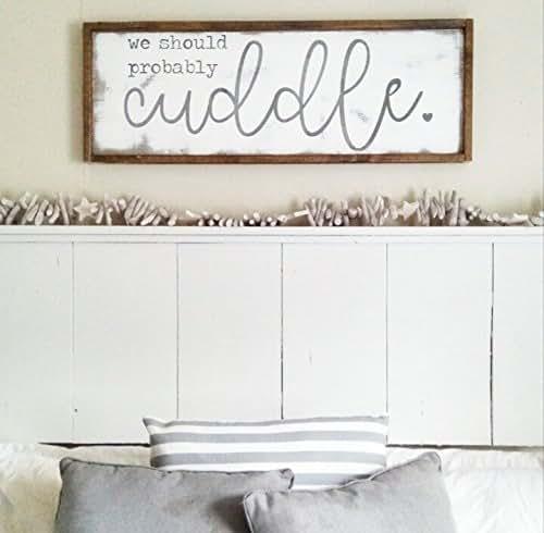 Newlywed Home Decor: Amazon.com: We Should Probably Cuddle