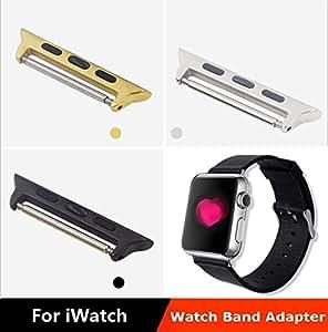 Adaptador ARBUYSHOP Quick Release Band para Apple reloj iWatch 42mm de acero inoxidable reloj Conector Upgrate Versión, color de la astilla de 38 mm