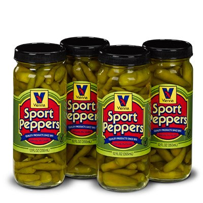 (Vienna Sport Peppers, 12 oz, For Chicago Dogs (4 Pack))