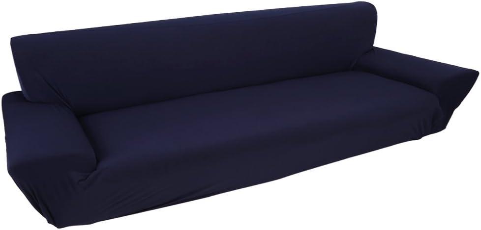 Colore : Beige Copridivano A 4 Posti Lounge Tratto Pieno Fodera Elastico 7 Colori Solidi Opzione