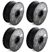 HATCHBOX 3D ABS-1KG1.75-BLK ABS 3D Printer Qvutd Filament, Dimensional Accuracy +/- 0.05 mm, 1.75 mm, Black, 1 KG Spool (4 Pack)