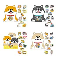 MetaView 120 Pcs Lovely Shiba Inu Akita Husky Dog Stickers,Catoon Dog Sticker for DIY Diary Scrapbooking Planner Journal Decals