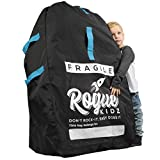 Rogue Kidz Single and Double Stroller Travel Bag For Airplane Gate Check - Durable Universal Large XL Cover With Padded Backpack Straps- Waterproof Heavy Duty Nylon Traveling Protector With Carry Case