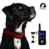 Paipaitek No Shock Dog Training Collar Remote Rechargeable Waterproof Vibration Beep No Bark