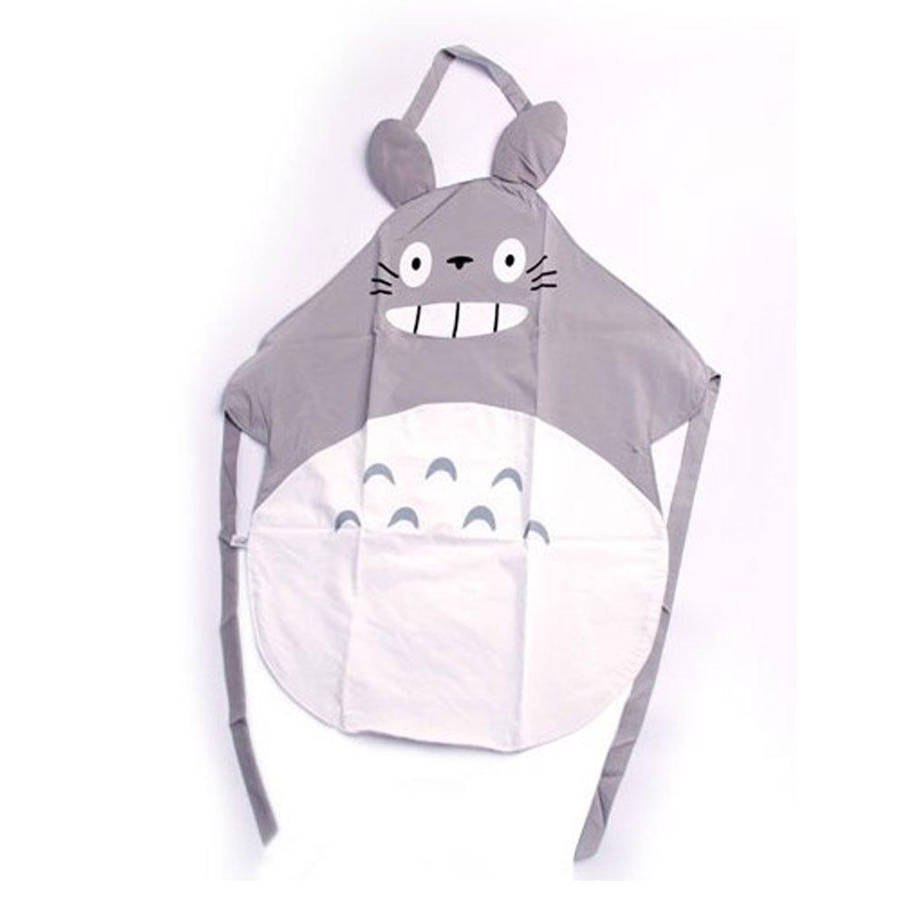 Plain white apron toronto - Amazon Com 1 X Hayao Miyazaki Totoro Gray Apron By Venz Home Kitchen