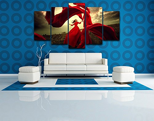 Premium Quality Canvas Printed Wall Art Poster 5 Pieces / 5