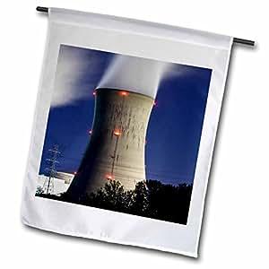 Danita Delimont - Industry - Pennsylvania, Three Mile Island power plant industry - US39 PSO0012 - Paul Souders - 12 x 18 inch Garden Flag (fl_94218_1)