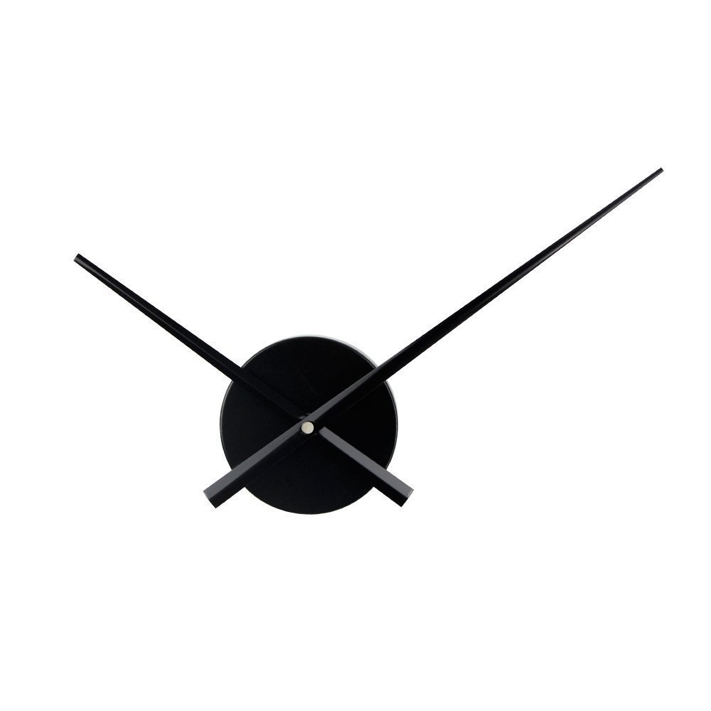 3D Clock Hands, Timelike DIY Large Clock Hands Needles Wall Clocks 3D Home Art Decor Quartz Clock Mechanism Accessories (Black) SYNCHKG121954
